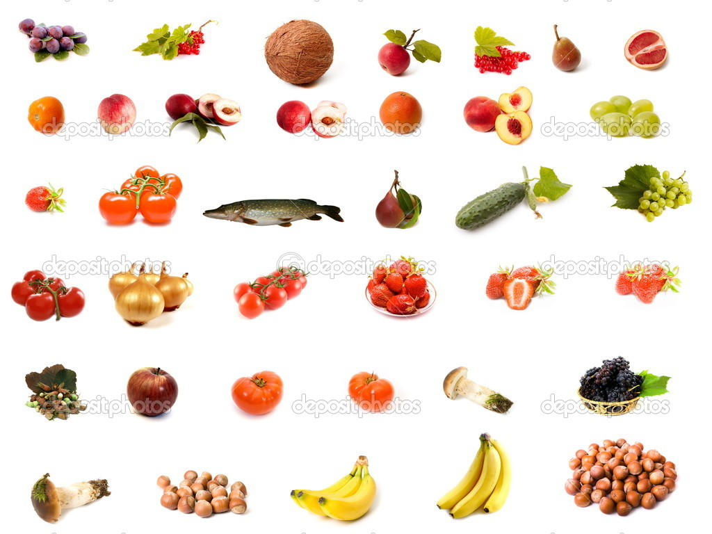 Isolated fruit and vegetable set — Stockfoto #1384979