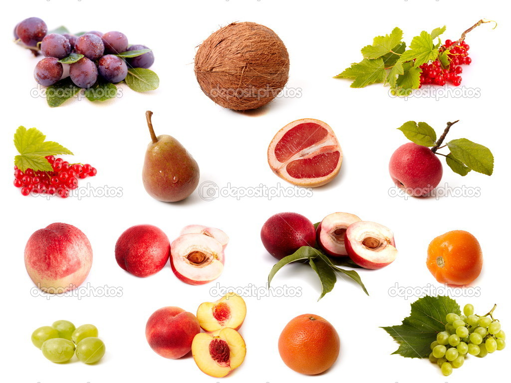 Isolated fruit and vegetable set  Stock Photo #1384994
