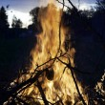 Raging fire — Stock Photo