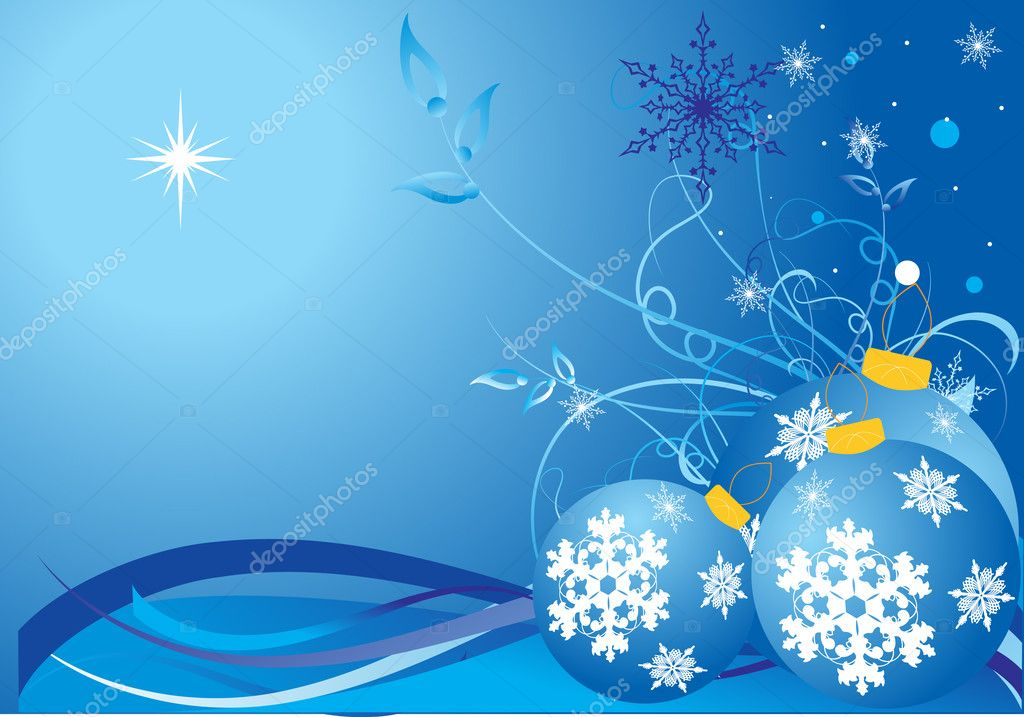 Christmas winter background, vector illustration — Stock Vector #1474007