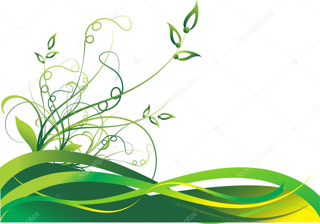 Spring floral background, vector illustration — Stock Vector #1474114