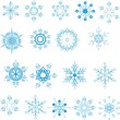 Snowflakes - Imagens vectoriais em stock