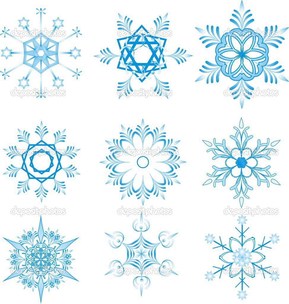 Blue snowflakes on white background  — Stock Vector #1503741