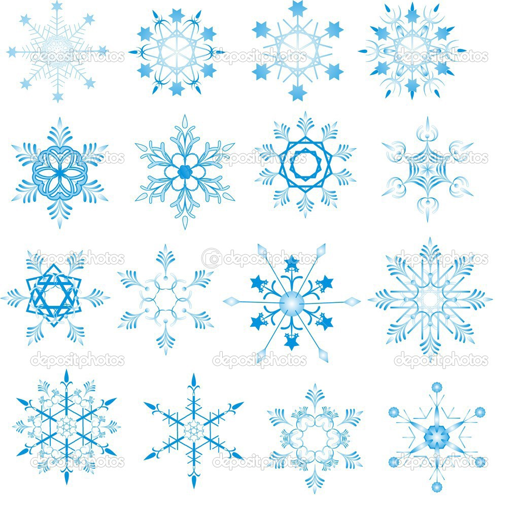 Blue snowflakes on white background  — Stock Vector #1503788