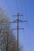 High voltage line on sky — Stock Photo