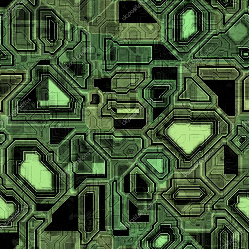 A high-tech circuit board background. It tiles seamlessly, when setting it as a pattern. — Stock Photo #1528736