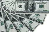 Composite shot of different American Dollar background — Stock Photo