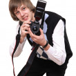 The young photographer — Stock Photo