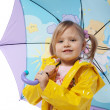 Little girl with umbrella — Stock Photo