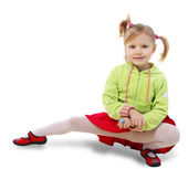 Little girl do the splits — Stock Photo