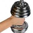Royalty-Free Stock Photo: Dumb-bell in a masculine hand