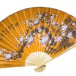 Royalty-Free Stock Photo: Red Chinese fan. (isolated)