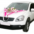 Royalty-Free Stock Photo: White wedding car