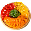 Stock Photo: Red yellow orange green pepper