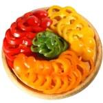 Red yellow orange green pepper — Stock Photo