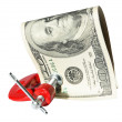 Money clamped in the clamp — Stock Photo #1155076