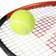 Tennis racket with a ball — Stock Photo #1155137