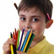 Royalty-Free Stock Photo: Little boy with crayons