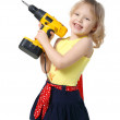 Little girl with screwdriver in hands — Stock Photo #1155755