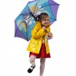 Little girl in a yellow jacket — Stock Photo #1155760