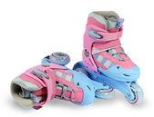 Roller skates on the white background — Stock Photo
