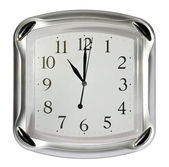 Gray wall clock (11:00). (isolated) — Stock Photo