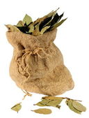 Laurel sheet in a sack — Stock Photo