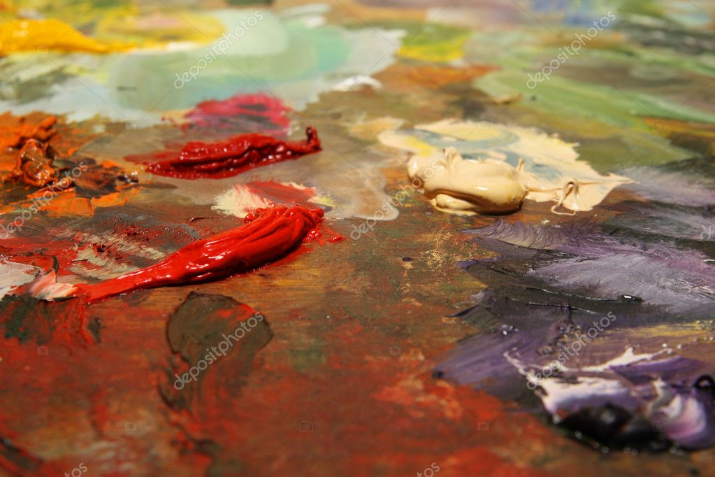 Texture, background painting with paints — Stock Photo #1154420