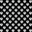 Texture black and white soccer ball — Stock Photo