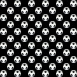 Stock Photo: Texture black and white soccer ball