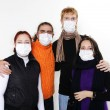 Stock Photo: In masks, ill flu, A(H1N1)