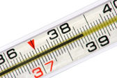 Mercurial thermometer (38.7) — Stock Photo