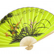 Chinese fan on the white background — Stock Photo