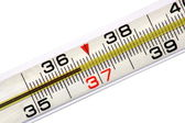 Mercurial thermometer (36.6) — Stock Photo