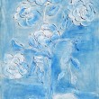 Painting, a bouquet of white daisies — Stockfoto