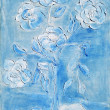 Painting, a bouquet of white daisies — ストック写真