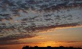 Bewölkten himmel, sonnenaufgang, struktur, hintergrund — Stockfoto