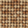 Texture from wooden marbles - Foto Stock
