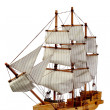Model of ship with sails — Stock Photo