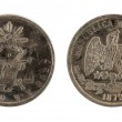 Old mexican coin on the white background — Stock Photo #1490947