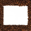Brown roasted coffee beans isolated — Stock Photo