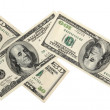 Pack of American money on the white background — Stock Photo