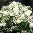 White wedding bouquet — Stock Photo