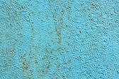 Tekstury stary zardzewiały metal z crackiem niebieski — Zdjęcie stockowe