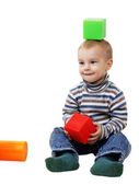 Small boy with toys — Stock Photo