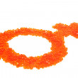 Red caviar as a symbol of woman — Stock Photo #1851432