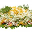 Stock Photo: Preparation of salad
