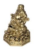 Statuette of Hotei (Buddha) to the toad — Stock Photo