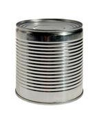 Ribbed aluminum can — Stock Photo