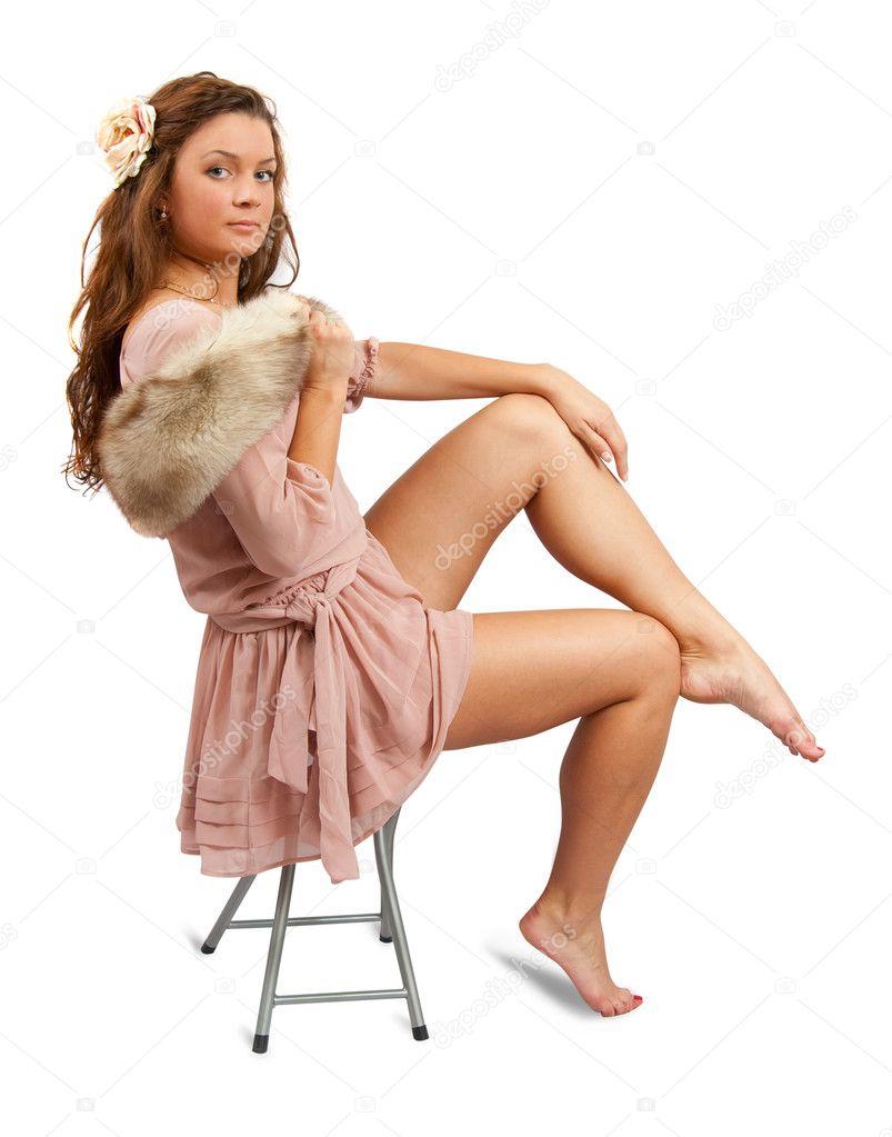 Фото девушек в шёлковых платьях 3 фотография